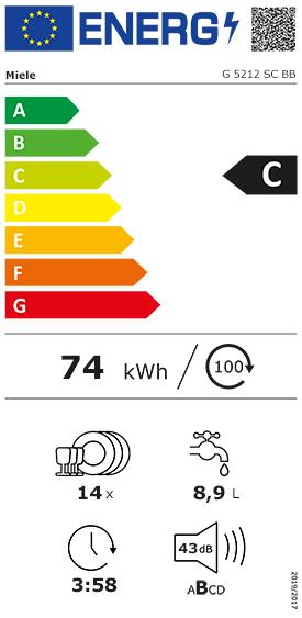 Etiquette Energie Miele G5212SCBB