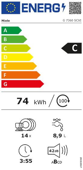 Etiquette Energie Miele G7360SCVI