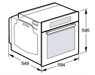 illustration dimensions standards four encastrable