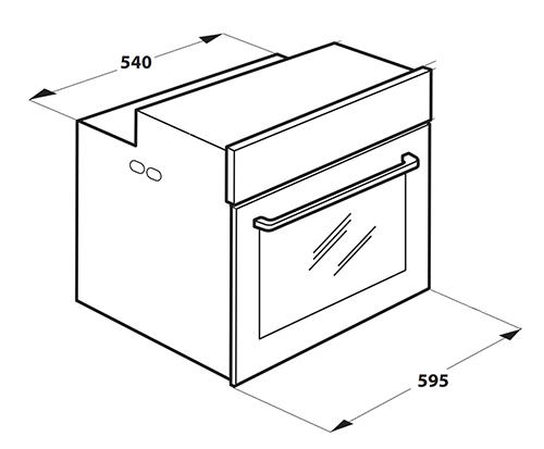 illustration largeur four encastrable