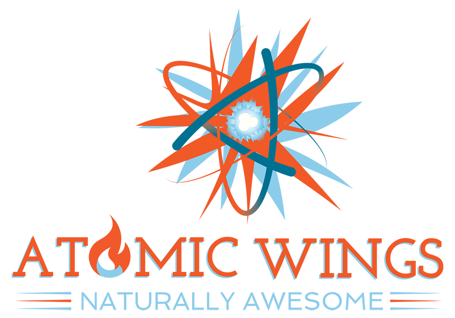 Atomic Wings, Naturally Awesome Logo