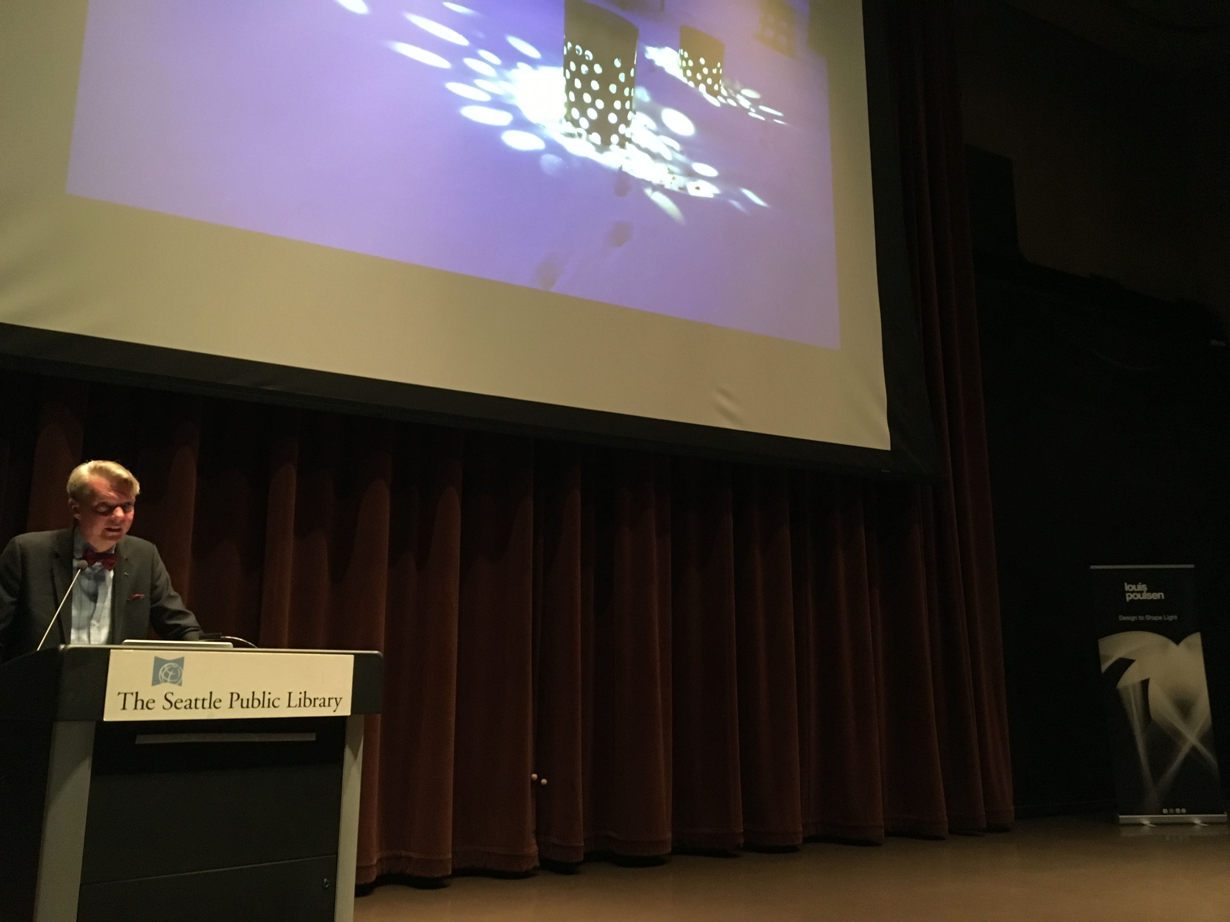 Johan Moritz, IALD, gives talk at Seattle Public Library