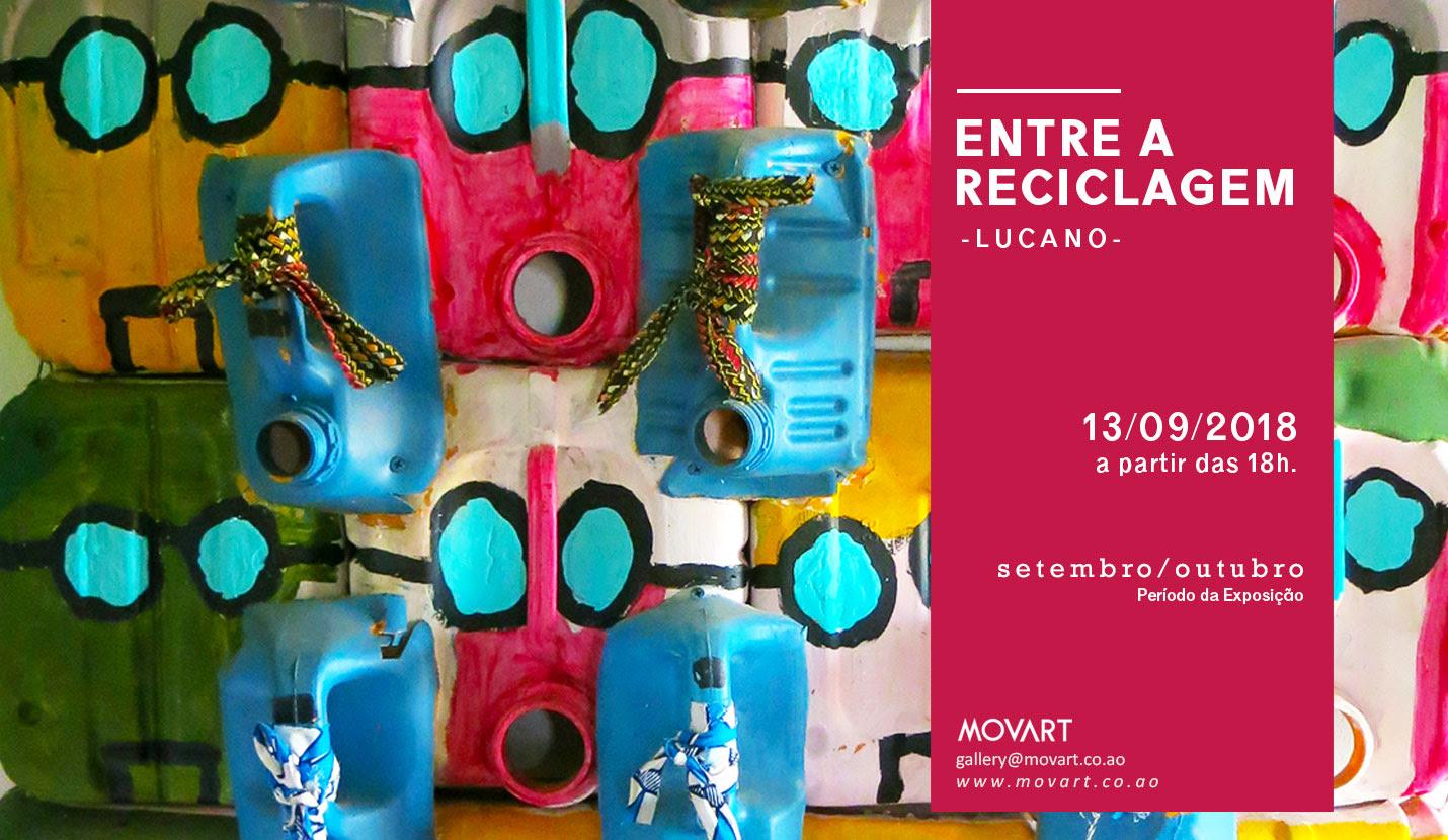 """Fernando Lucano expõe """"Entre a Reciclagem"""" na Galeria MOVART"""
