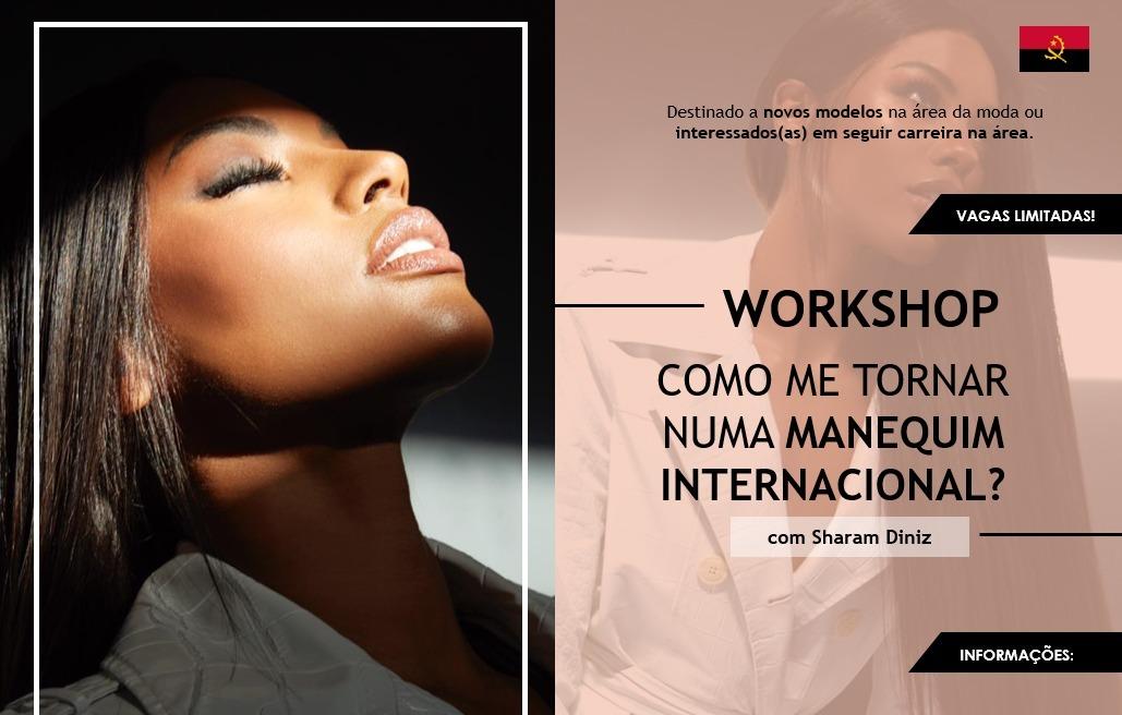 Sharam Diniz lança workshop online sobre como se tornar uma manequim internacional