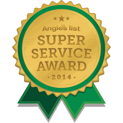 Winner of Angie's List Super Service Award in 2014