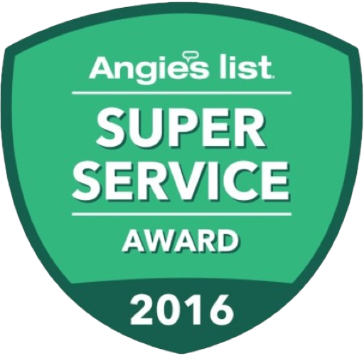 Winner of Angie's List Super Service Award in 2016