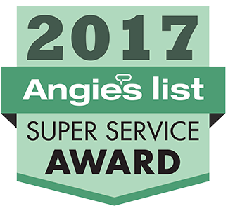 Winner of Angie's List Super Service Award in 2017