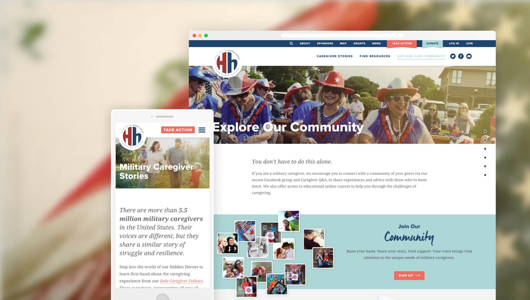 hidden heroes website screenshot