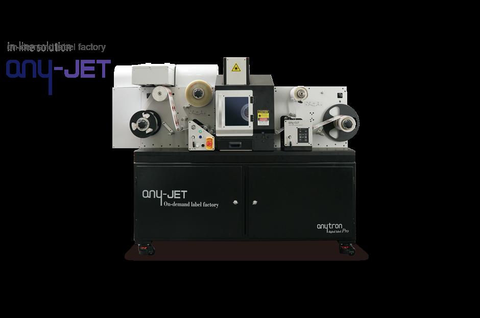 any-jet stampante per etichette e taglio laser