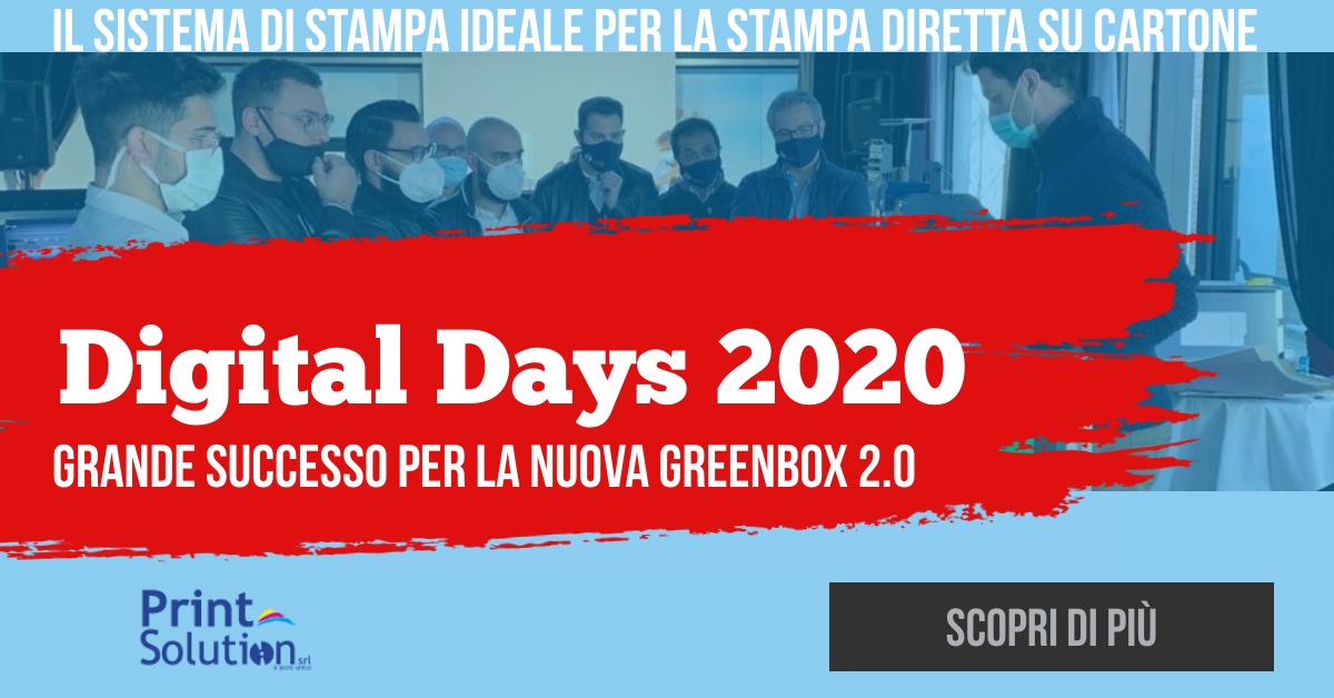 La nuova Greenbox 2.0 protagonista al Digital Days