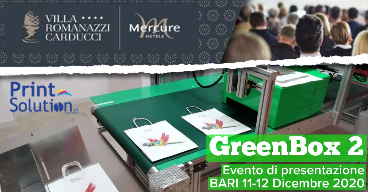 Evento presentazione GreenBox2 agli operatori: BARI 11-12 Dicembre 2020