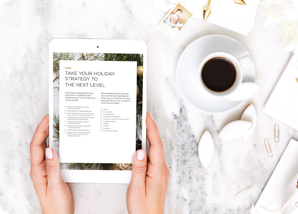 5 Mobile Shopping App Strategies to win this holiday season eBook - PredictSpring