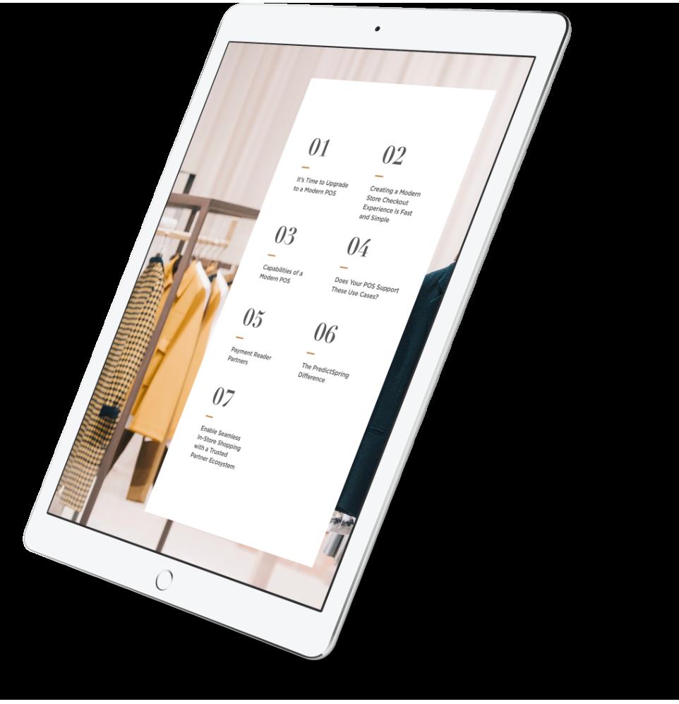 Why You Need a Modern POS Now eBook - PredictSpring