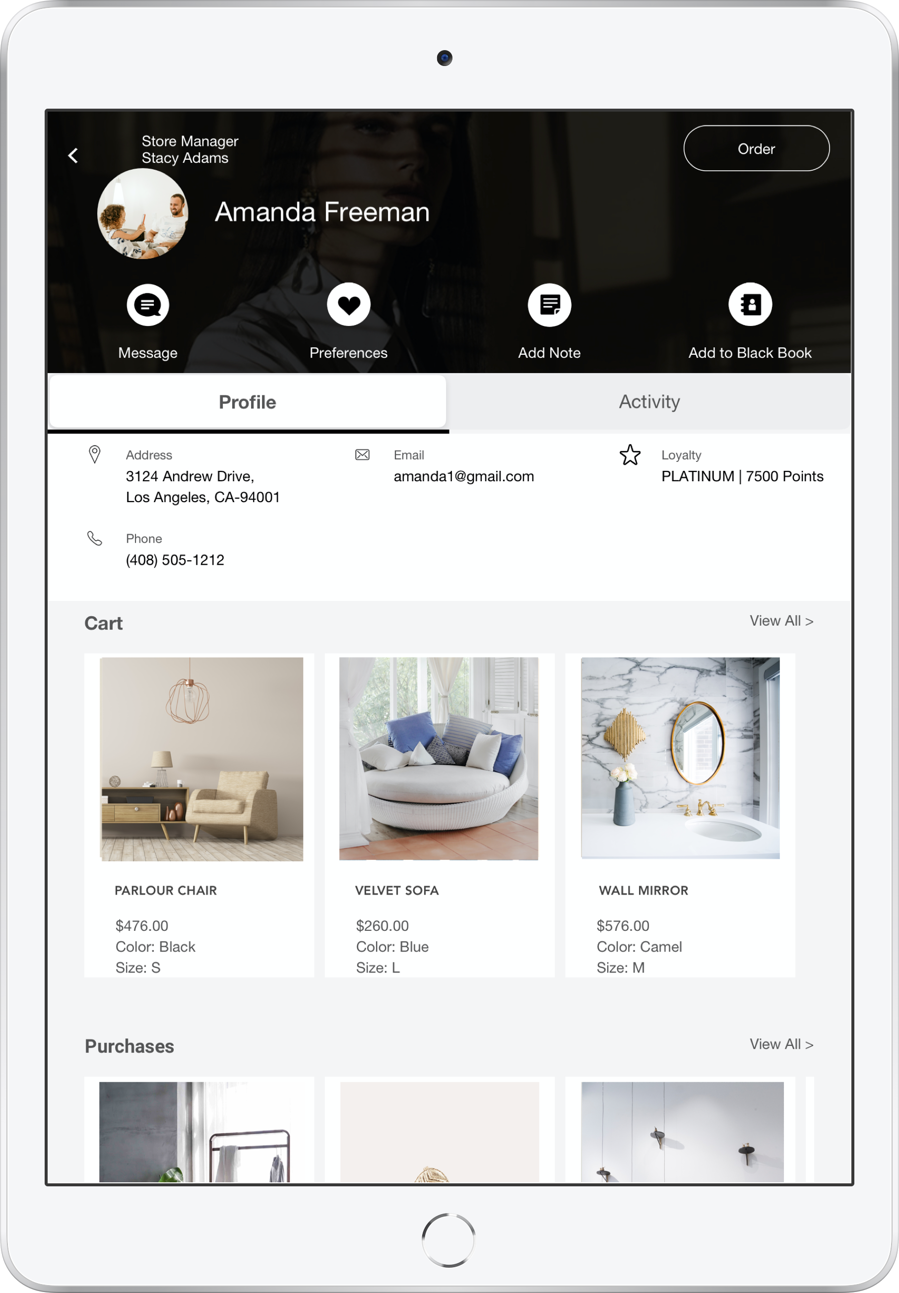 Home Furnishing software by PredictSpring