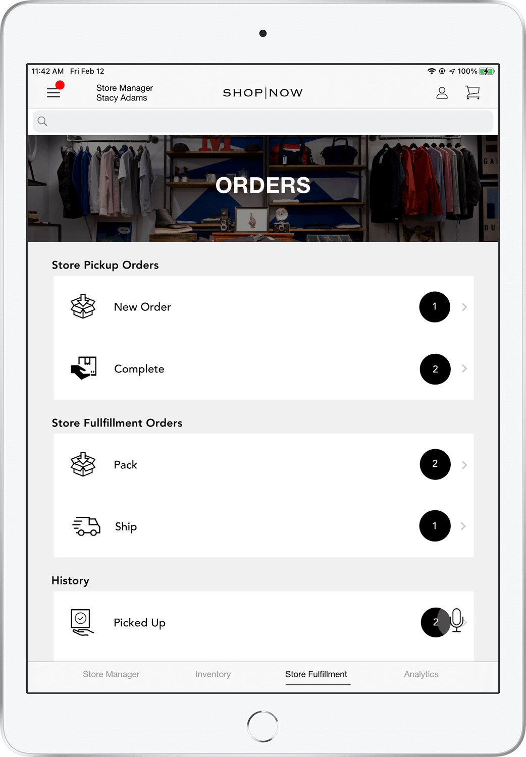Personalization in Native Mobile App Powered By PredictSpring - Preference Quiz on iPhone X