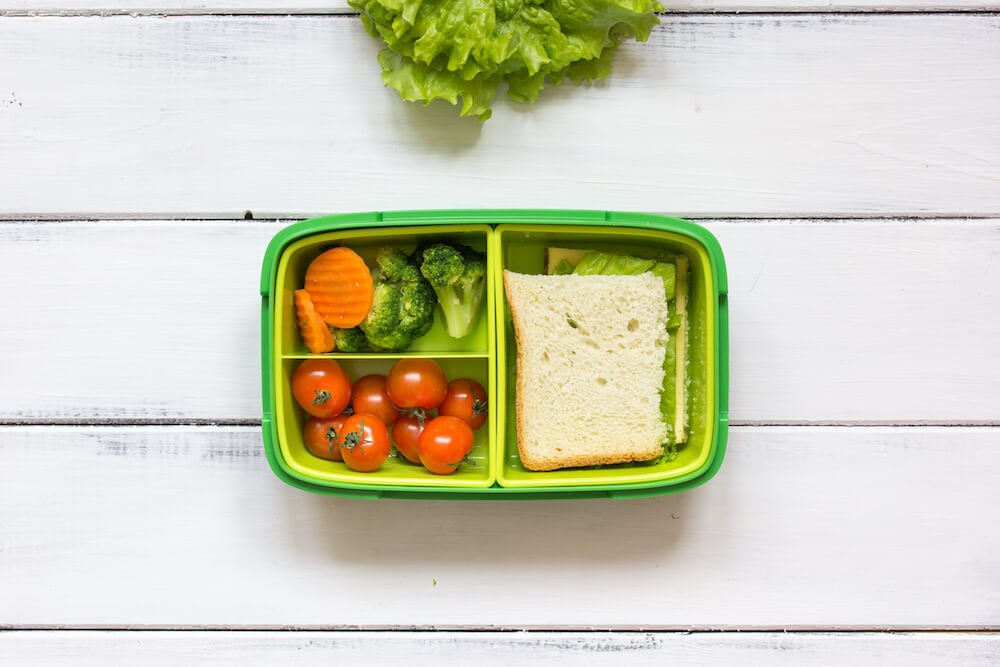 Practising routines - school lunchbox