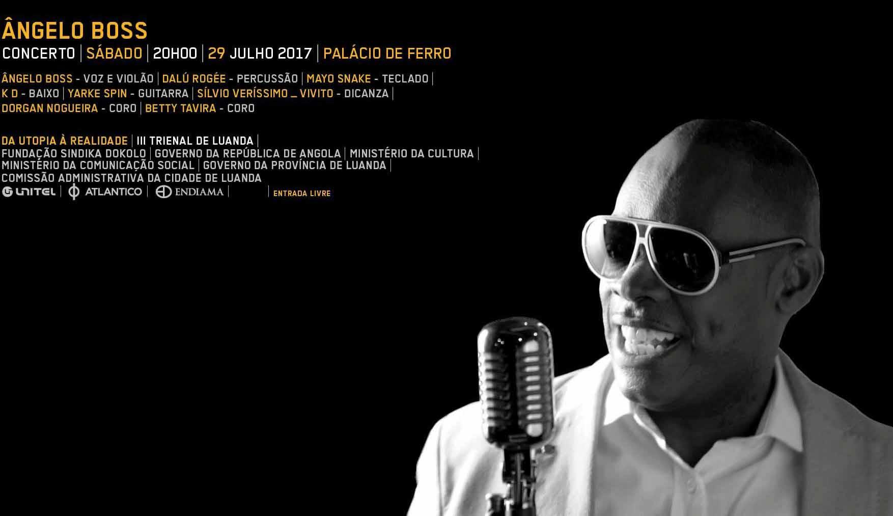 Ângelo Boss estreia-se este sábado na III Trienal de Luanda