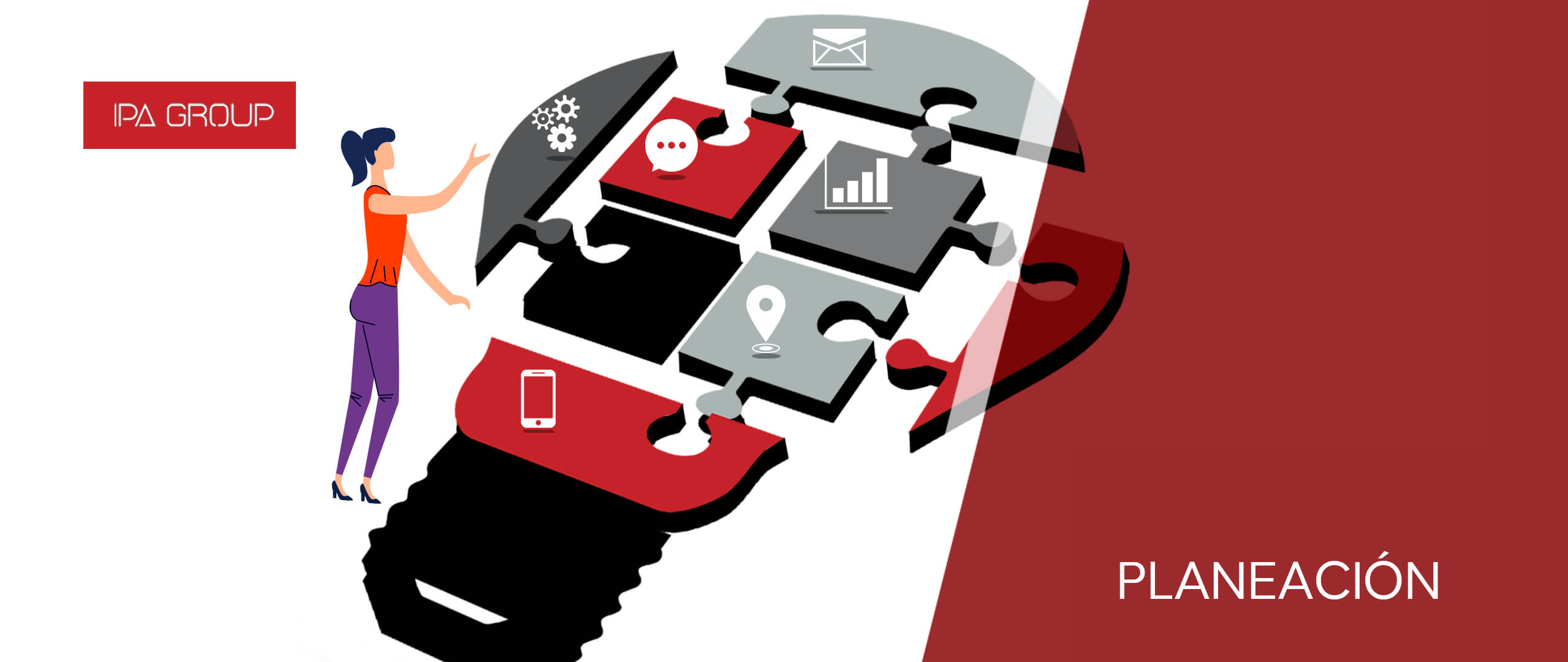 Usuario creando la planeación de su estrategia digital