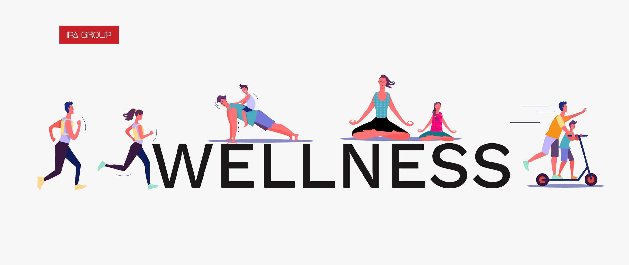 Gente haciendo ejercicio para bienestar físico