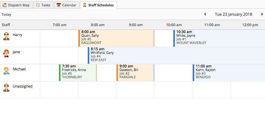 Drag and drop scheduling