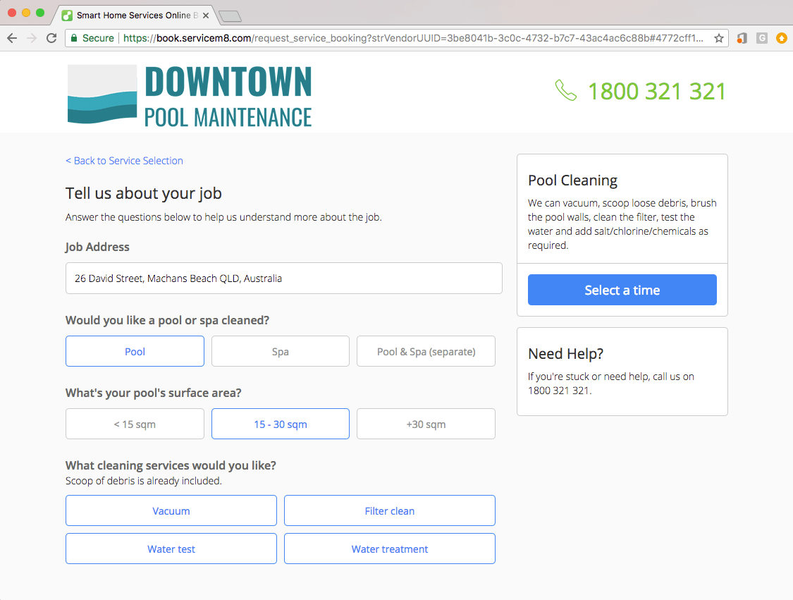 Online Pool Service Business Booking Software