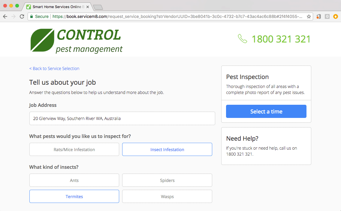 Online Pest Control Business Booking Software