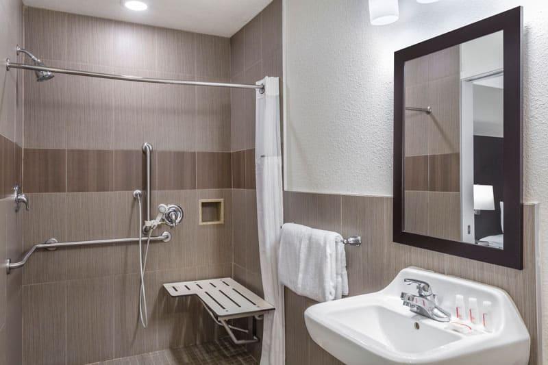 ADA Accessible Guest Room Bathroom
