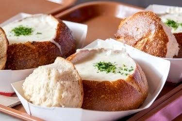 Clam Chowder in a bread bowl