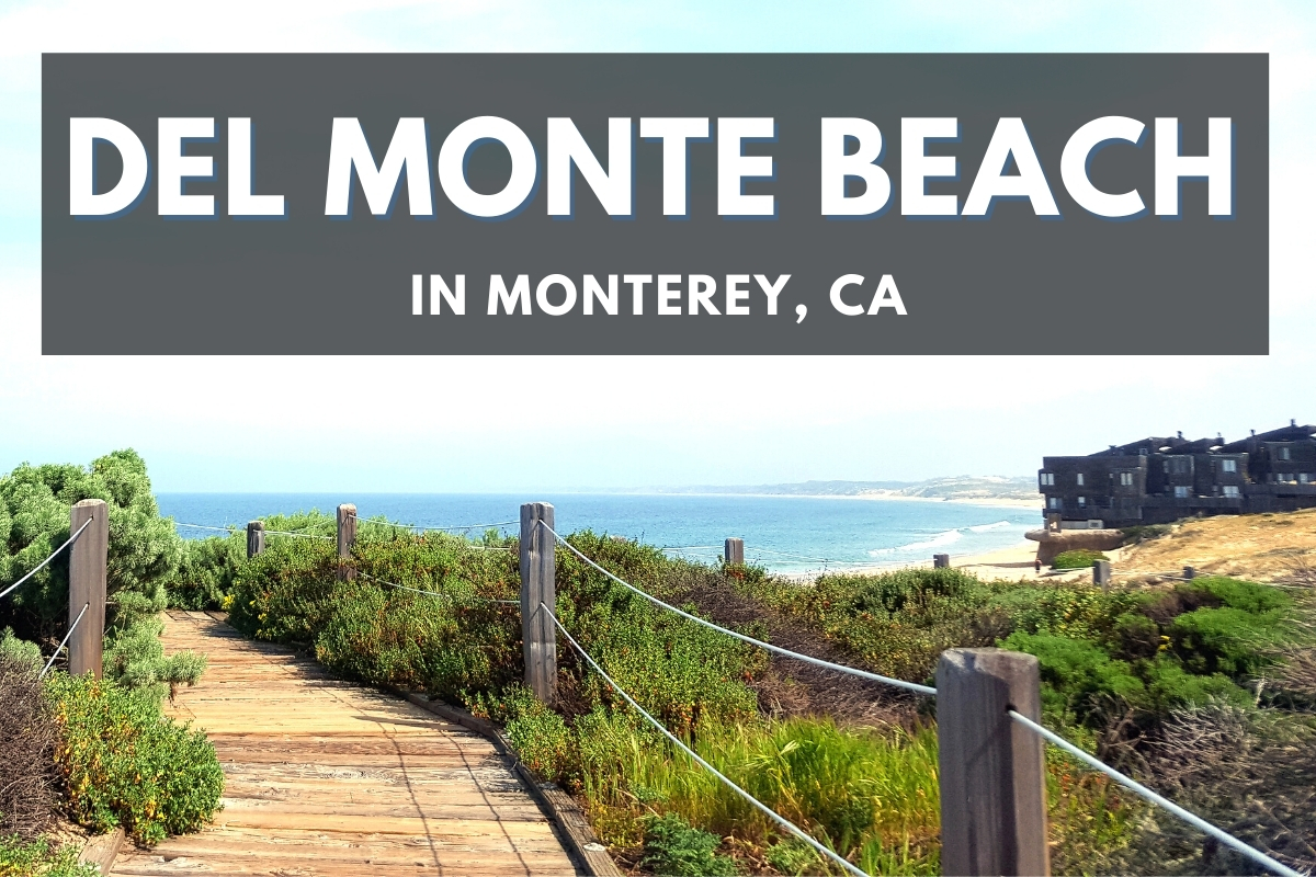 Boardwalk next to Del Monte Beach - Del Monte Beach in Monterey, CA
