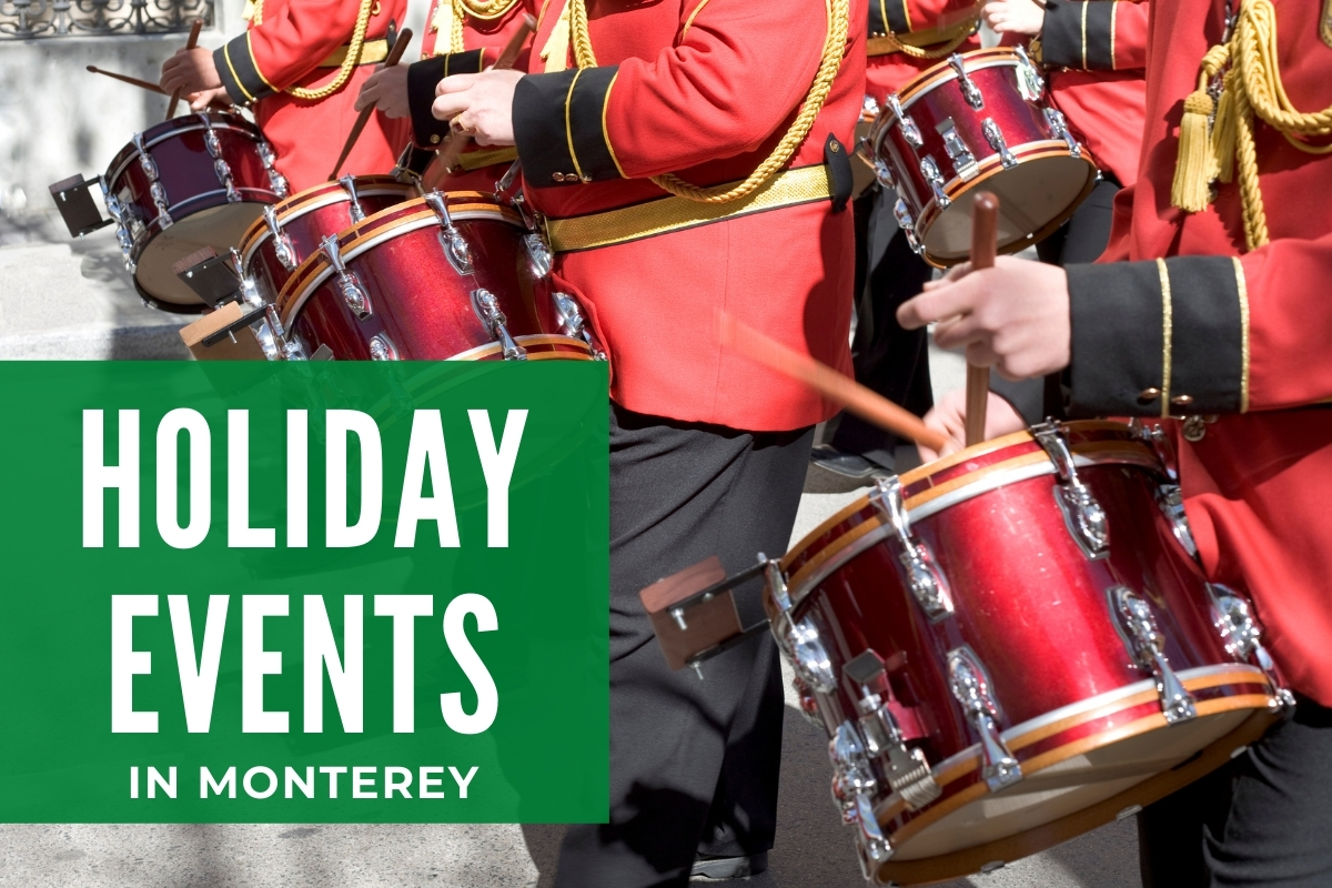 Bands playing in a Parade - Holiday Events in Monterey