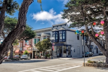 Old Style building in Pacific Grove, Monterey California