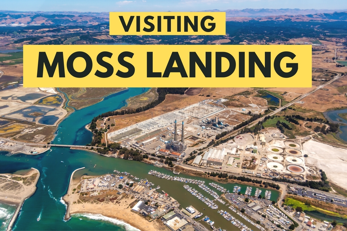 Aerial shot from Moss Landing, California - Visiting Moss Landing
