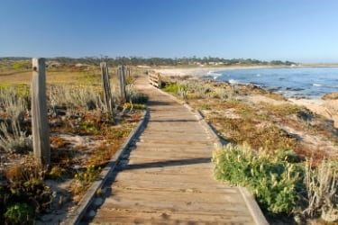 Boardwalk at Spanish Bay of Monterey in California