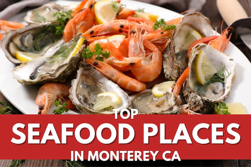 Shrimps and Oysters in a plate - Top Seafood Places in Monterey CA