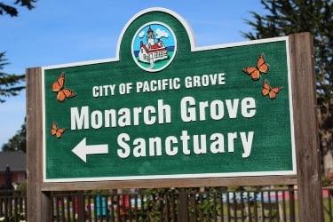 Monarch Grove Sanctuary Sign