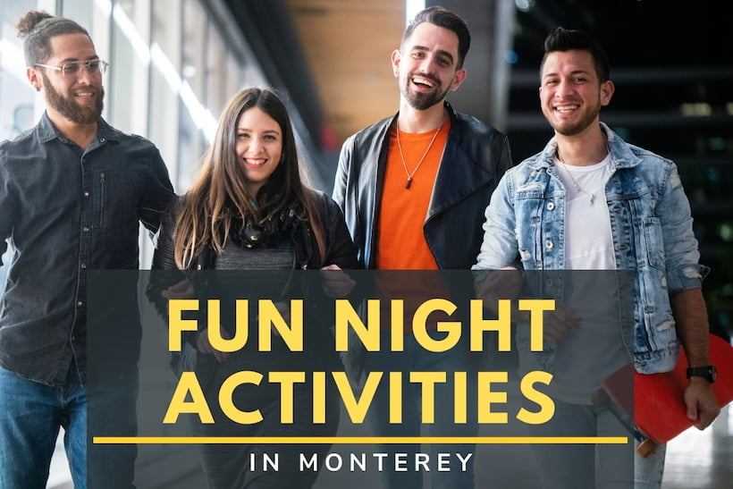 Fun Night Activities in Monterey - Friends hanging out at night