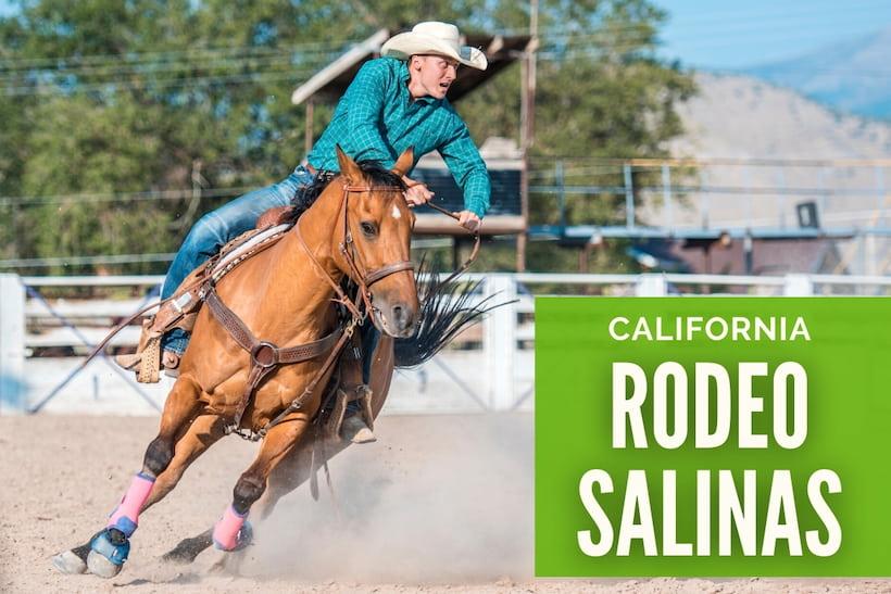 California Rodeo Salinas - Man riding a horse