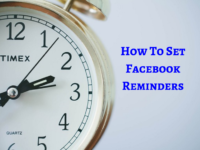 how to set reminders on facebook