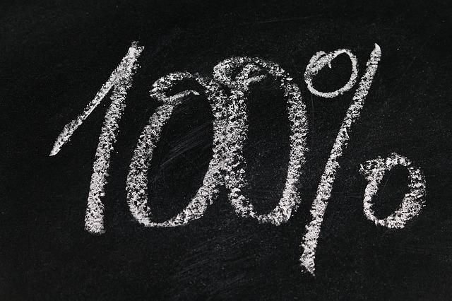 100% written out in chalk
