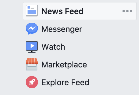 Explore Feed on Facebook Desktop Site