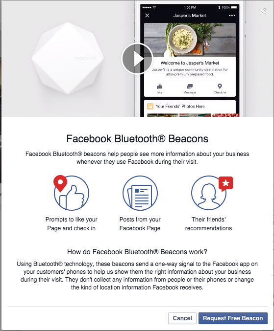 steps to getting facebook beacon