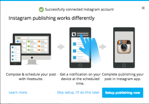 schedule posts with hootsuite