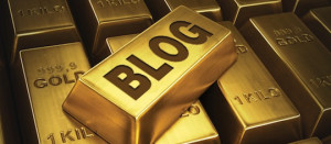 blog on a gold brick