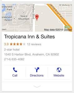 Tropicana Inn mobile search