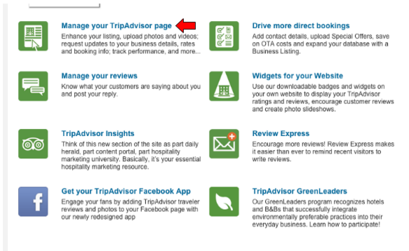 manage tripadvisor business account
