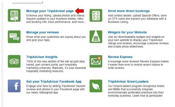 manage tripadvisor business account