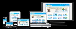 hotel website on mobile, tablet, desktop