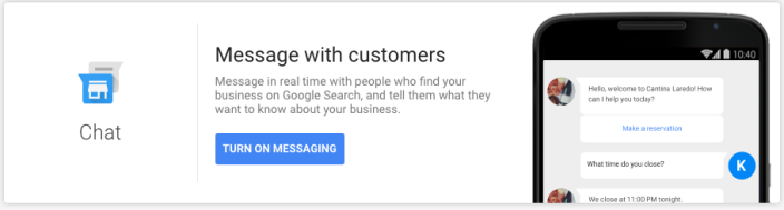 setting up Google Messaging