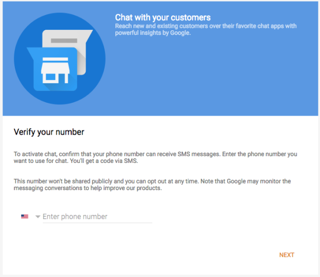 verifying step for Google messaging