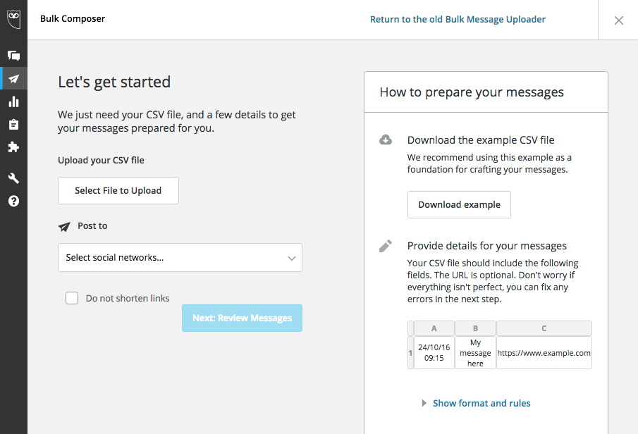getting started on Hootsuite